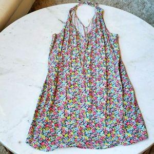 Gap teeny flower halter dress size m